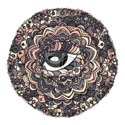 Mistyczne Mandala wektorowych.