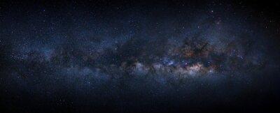 Naklejka Mleczna galaktyka z gwiazdami i kosmicznym pyłem we wszechświecie
