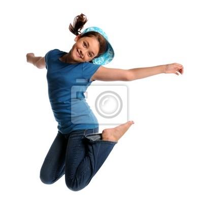 Młoda Dziewczyna Jumping