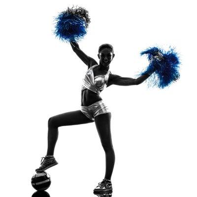 Naklejka młoda kobieta cheerleaderek sylwetka cheerleaderka