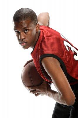 Naklejka Młody czarny koszykarz