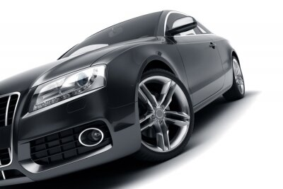 Naklejka Modern black car