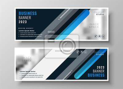 modern blue presentation banner design