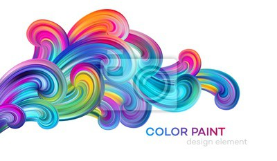 Naklejka Modern colorful flow poster. Wave Liquid shape color paint. Art design for your design project. Vector illustration