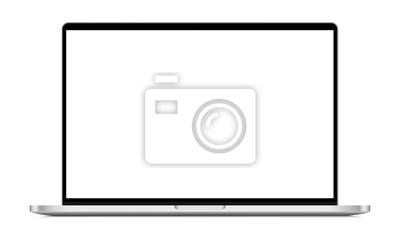 Naklejka Modern laptop mockup front view, isolated on white background. Vector illustration