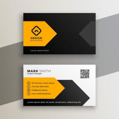 modern yellow geometric business card design