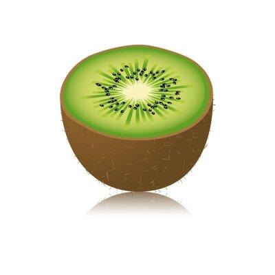 Naklejka Moitié de kiwi