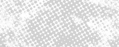 Naklejka Monochromatyczne tło grunge punktów półtonów