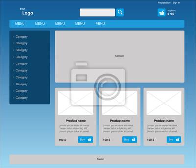Monochromatyczny graficzny szablon www z działalności internetowej.