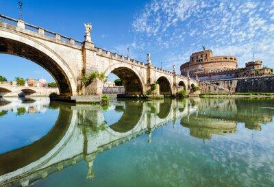 Naklejka Most i Zamek Świętego Anioła, Rzym