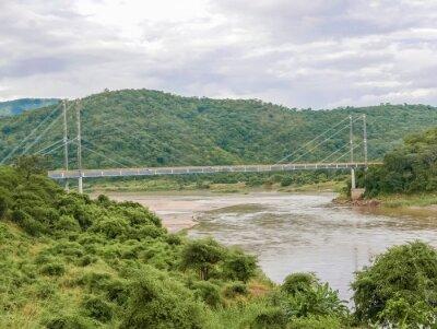Naklejka Most nad rzeką Luangwa w Zambii