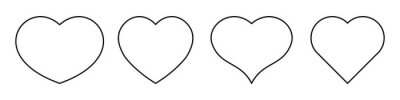 Naklejka Most popular heart shapes