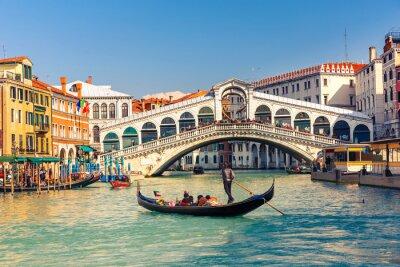 Naklejka Most Rialto w Wenecji