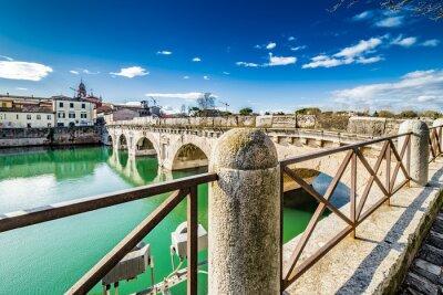 Naklejka Most Tyberiusza w Rimini