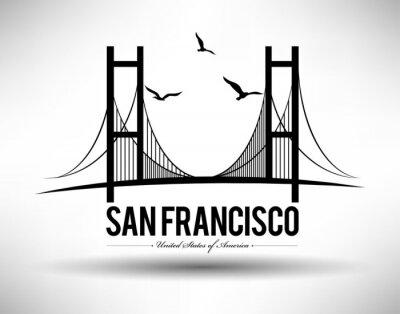Naklejka Most w San Francisco