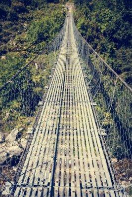 Naklejka most wiszący metalu.