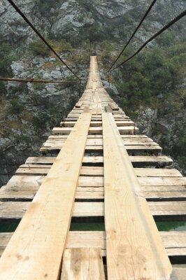Naklejka Most wiszący w kanionie
