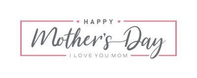 Naklejka Mother day. Happy Mother's Day. Mother day poster. Vector illustration for women's day, shop, discount, sale, flyer, decoration. Lettering style.