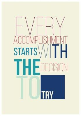 Naklejka Motivational poster for a good begining