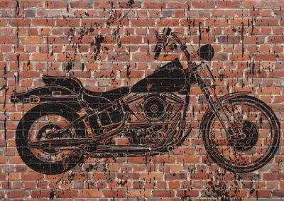 Naklejka Moto sportster grunge