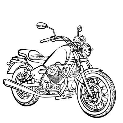 Naklejka Motocykl klasyczny