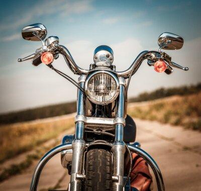 Naklejka Motocykl na drodze