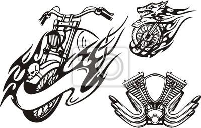 Motocykl w postaci wilka i gaźnika .