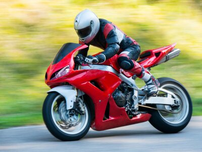Naklejka Motocykl wyścigowy