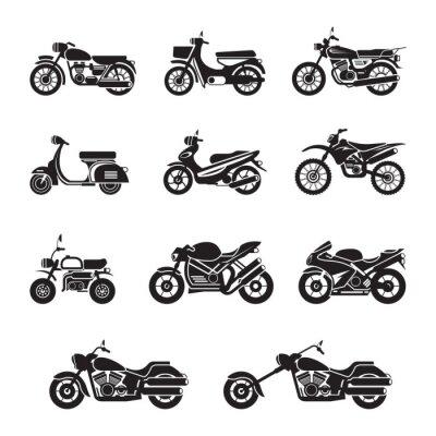 Naklejka Motocyklistów, rowerzystów, Czarno-biały, sylwetka
