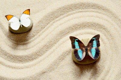 Naklejka Motyl na piasku