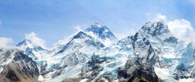 Naklejka Mount Everest with beautiful sky and Khumbu Glacier
