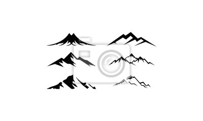 mountain and hill set logo