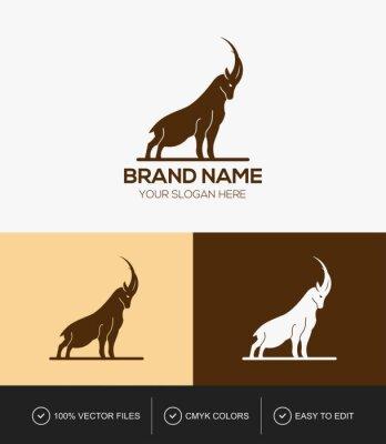 Mountain goat logo design template