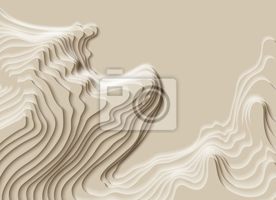 Naklejka Mountain hiking. Map line of topography. Vector abstract topographic map concept with space for your copy. 3D Cartography concep background. Map mockup infographics. Sale background. Wavy backdrop