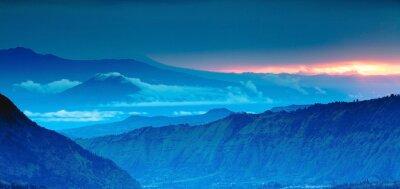 Naklejka mountain panorama on the top view,Blue Mountains