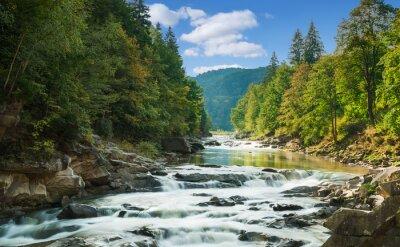 Naklejka mountain river