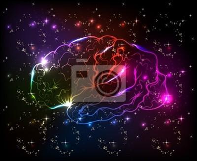 Mózg bokeh światło abstrakcyjne