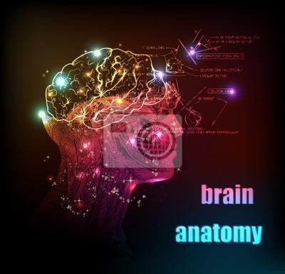 Mózg ludzki projekt tło światło