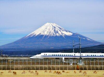 Naklejka Mt. Fuji i Bullet Train