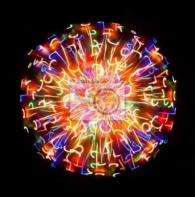 Multi-kolorowe kula światła