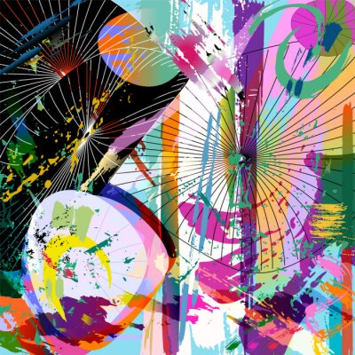Naklejka multicolored abstract composition, vector format