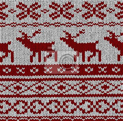 Muster Norweger - Hirsch - Vector