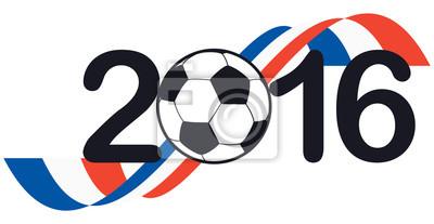 Napis 2016 z Francją barwach narodowych
