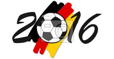 Napis 2016 z niemieckich barwach narodowych