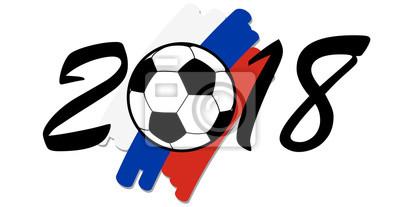 napis 2016 z rosyjskimi barwami narodowymi