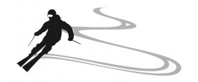 Naklejka narciarz