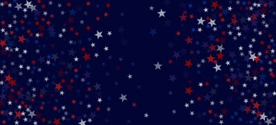 Naklejka National American Stars Vector Background. USA Veteran's Labor President's 4th of July Memorial Independence 11th of November Day