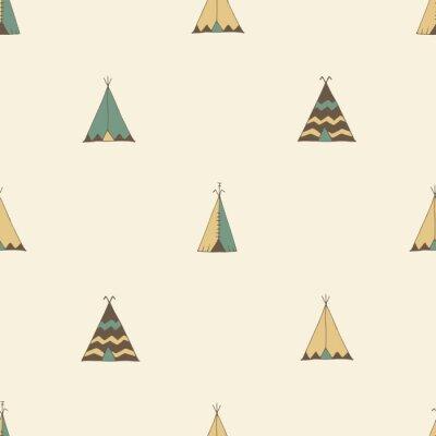 Naklejka Native American Teepee Ilustracja namiot lato w wektorze.