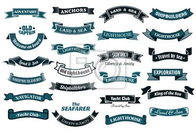 Naklejka Nautical banery tematyczne
