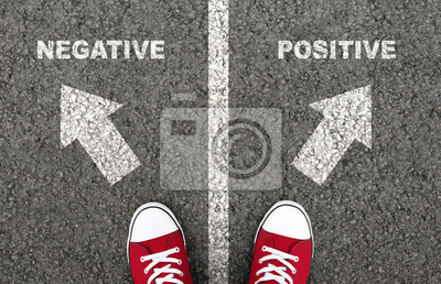 Naklejka Negative or positive thinking is a personal choice